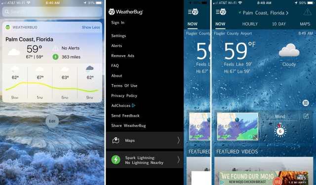Widget-WeatherBug-on-iPhone