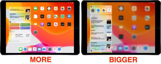 iOS_13_App_Icon_Size_More_Bigger_before_after_iPad_Home_screen_with_Today_widgets_001