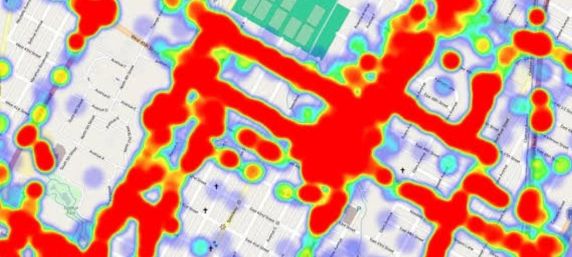 Location-heatmap