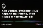 Как посмотреть сохраненные пароли на iPhone, iPad и Mac с помощью Siri