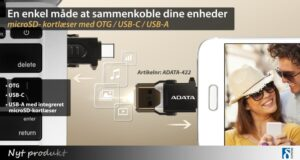 Smart microSD-kortlæser med OTG og USB-C 1