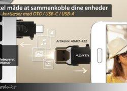 Smart microSD-kortlæser med OTG og USB-C