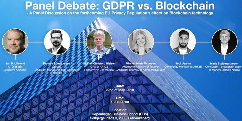 Panel Discussion: GDPR VS Blockchain 1