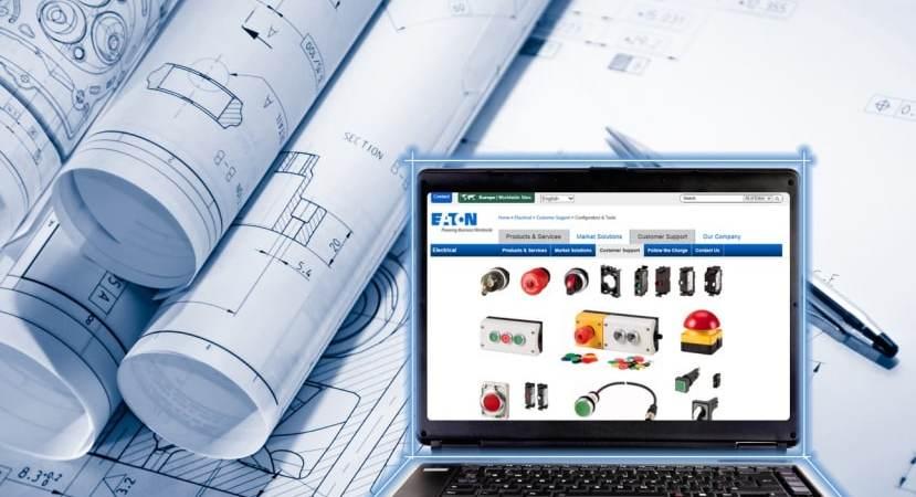Eatons konfigurator til trykknapper forenkler udvælgelsen og kombinationen af kontrolpaneler