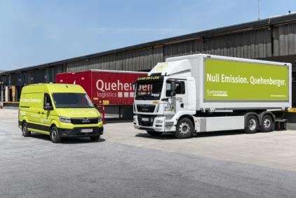 , E-mobilitet gjort let! Quehenberger Logistics får nye fuldelektriske MAN eTGE'er