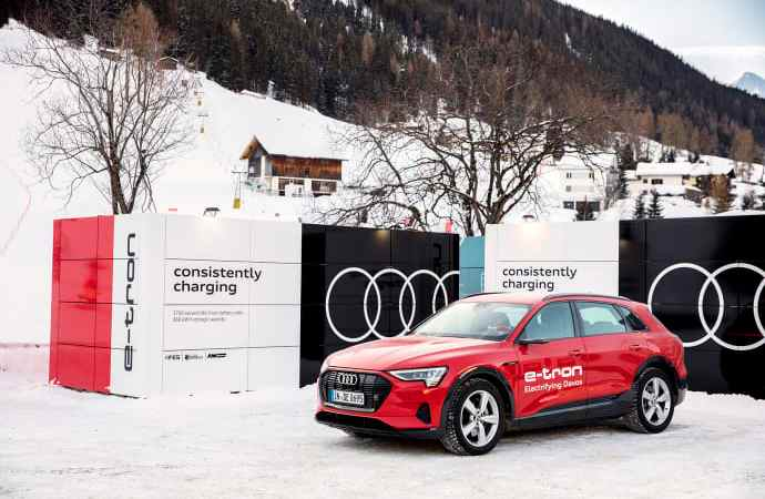 Audi leverer bæredygtig mobilitet og opladningsløsninger til World Economic Forum i Davos