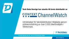 Tech Data utsett till årets distributör av Context Channel Watch 1