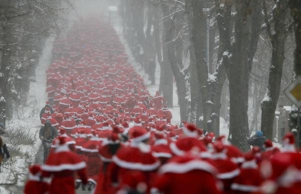 Santa Run med Check Point