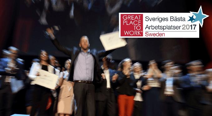 B3IT på topplistan bland Sveriges Bästa Arbetsplatser 2017
