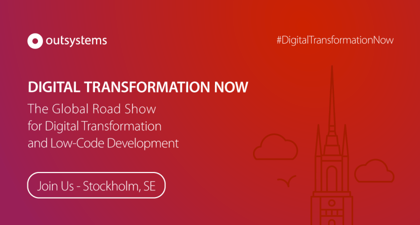"OutSystems lanserar ""Digital Transformation Now"" från Boston till Bangkok via Stockholm"