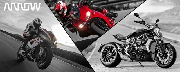 Provkör Ducati och BMW med Arrow ECS