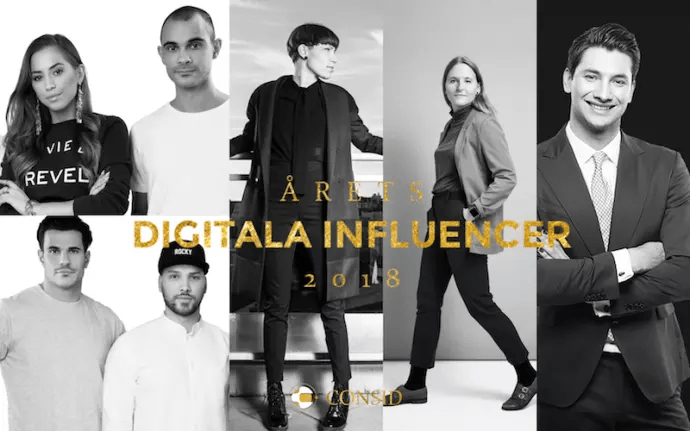 De kan få titeln Årets digitala influencer 2018