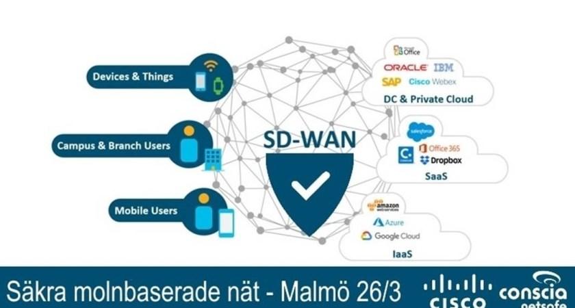Molnbaserade SD-WAN – smidigare nät med ökad säkerhet – Gbg 25/4