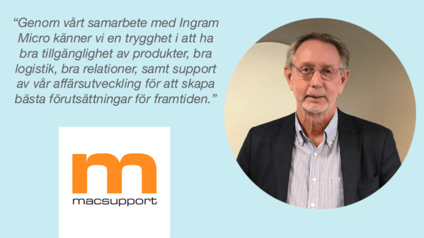 Macsupport väljer Ingram Micro som distributionspartner