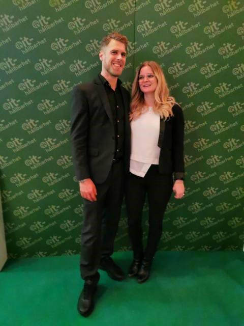 Alexander Guldroth Försäljningschef och sambon Jennie Norrby