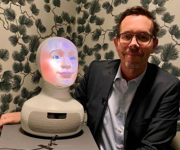 Vision första fackförbund att rekrytera med AI-robot 1