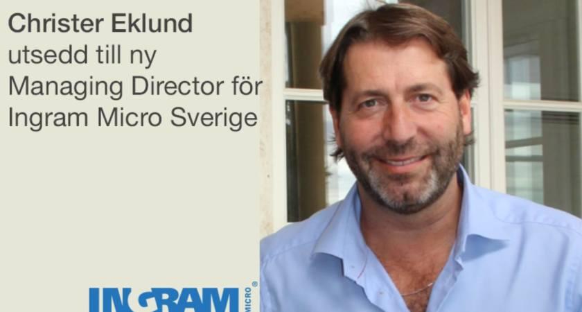 Ingram Micro utser ny Managing Director för Sverige