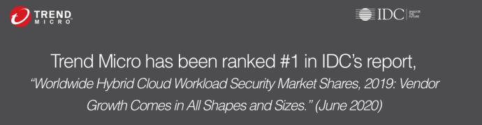IDC rankar Trend Micro som världsledare inom Global Hybrid Cloud Security