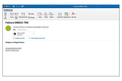 Bli inte offer för förfalskad e-post 1
