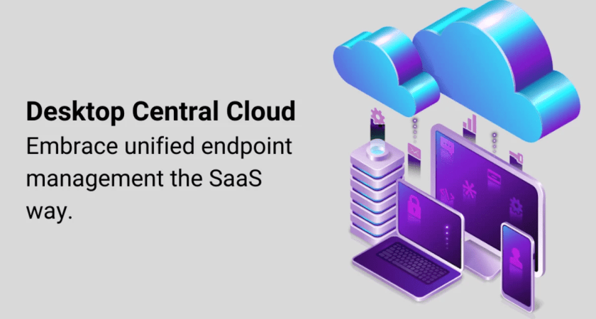 Unified endpoint management som molntjänst med Desktop Central Cloud