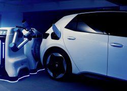Volkswagen-koncernen visar prototyp av den mobila laddningsroboten