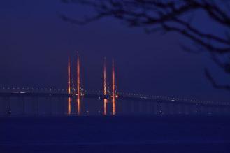 Øresundsbrons nyårsljus visas digitalt 1