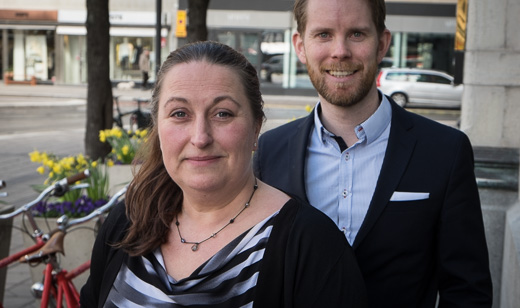 Annika Roupé och Tobias Bjarnelind, Samsung.