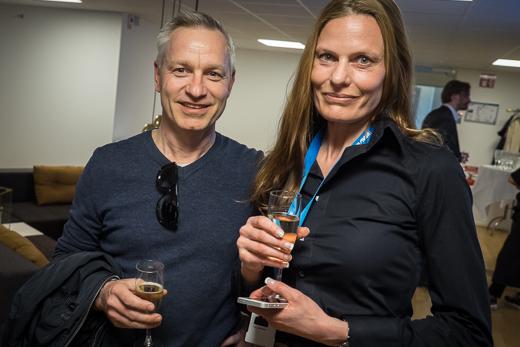 Anders Lindberg från Netsafe med Tina Jedenheim, Ingram Micro.