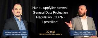 Bara 1 år kvar att förbereda inför nya dataskyddsförordningen, GDPR! 1