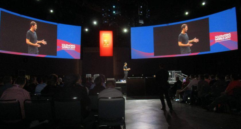 SolidWorks bjöd på högljudd show i snabbt tempo