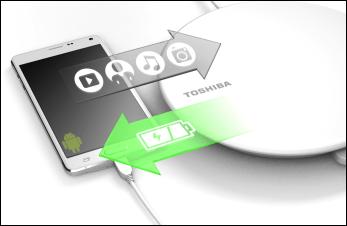 Toshiba lanserar lösning för laddning och backup av smartphones i en och samma lösning