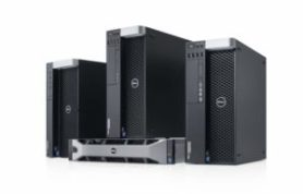 Dell Precision Fixed Workstation family image featuring Dell Precision T5810, T7810, T7910  tower workstations and Precision R7910 rack workstation.