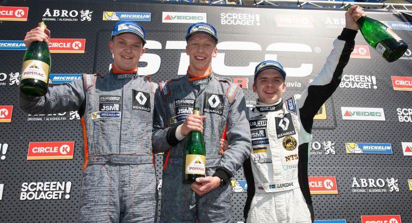 Jern och Ljungdahl i delad Clio Cup-ledning efter premiären