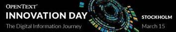 OpenText bjuder in till Innovation Day Nordic 1