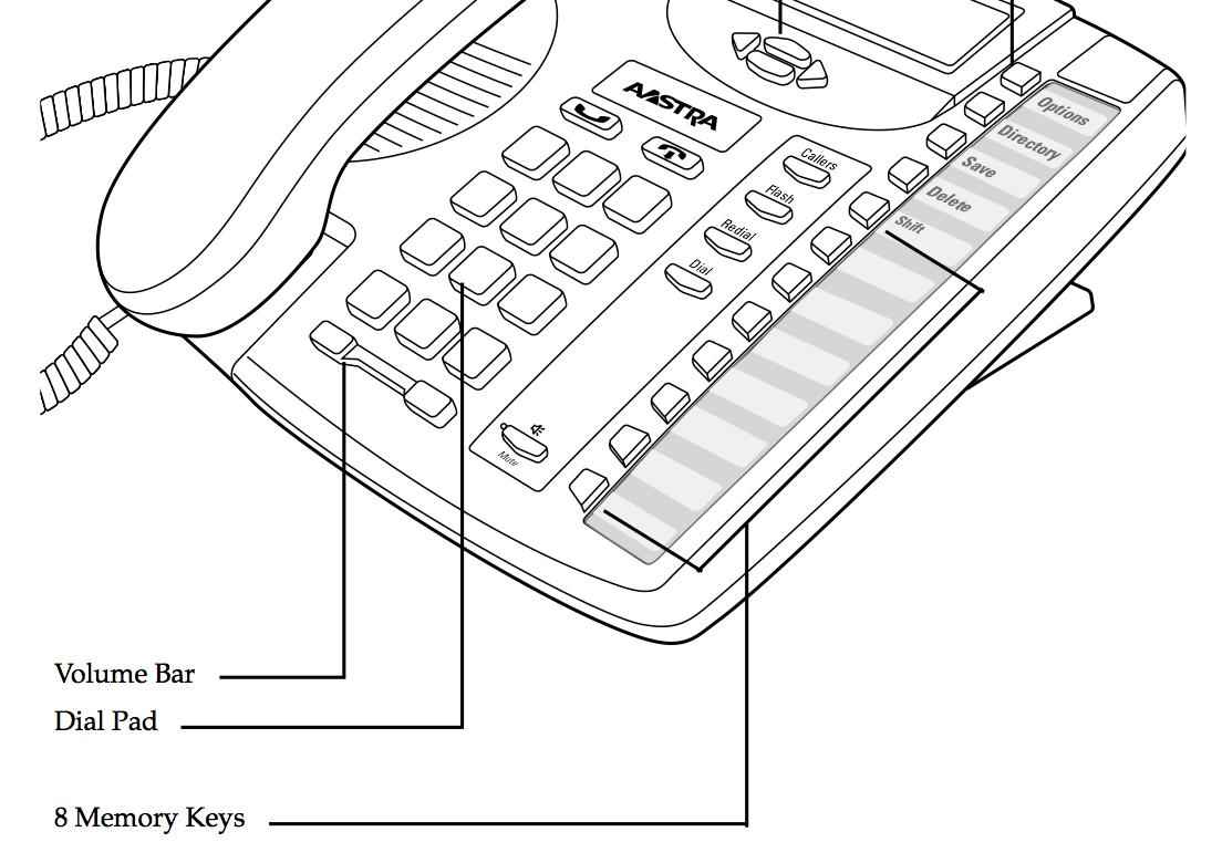Aastra 9116LP Phone; Programming Memory Keys (Speed-Dial
