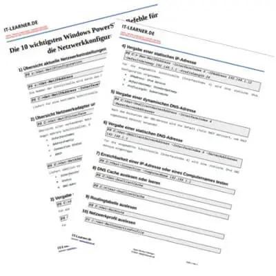 Cheat-Sheet PowerShell Befehle für die