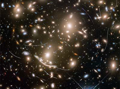 Asteroids photobomb distant galaxies