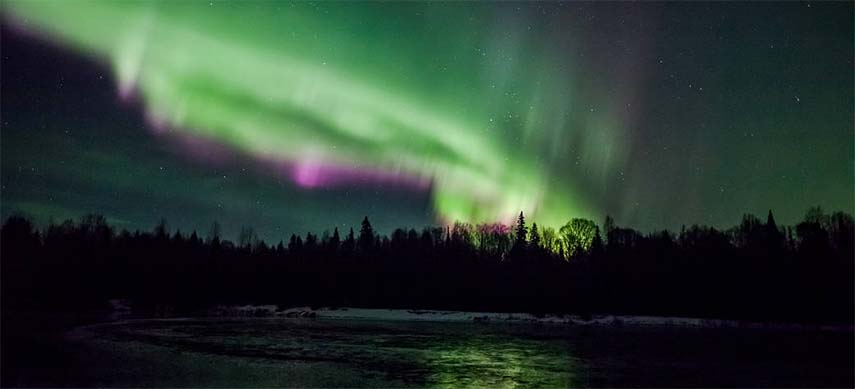 Measuring the real effect of the aurora borealis