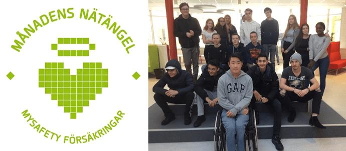 Månadens nätängel april 2018 – klass 8F på Östra grundskolan i Huddinge