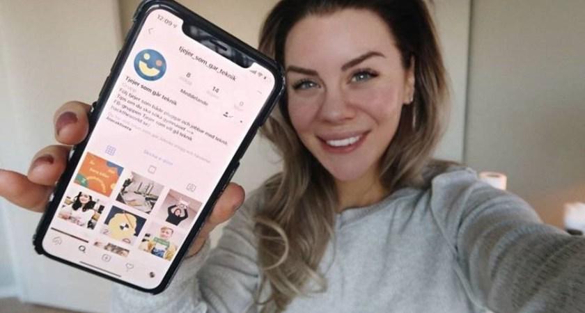 Instagramkonto ska inspirera fler tjejer att välja teknik