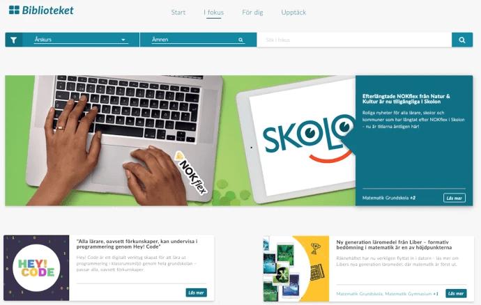 Skolon lanserar ny kunskapsdel i biblioteket av digitala skolverktyg och läromedel