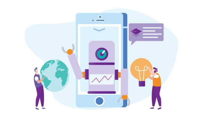 Talsyntes med AI läser upp texten som en verklig människa på språklektionerna