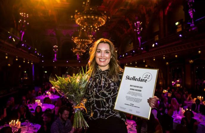 Semira Vikström från Huddinge är Årets rektor