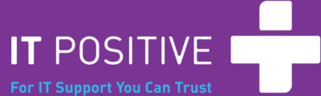 IT Positive logo with purple background.