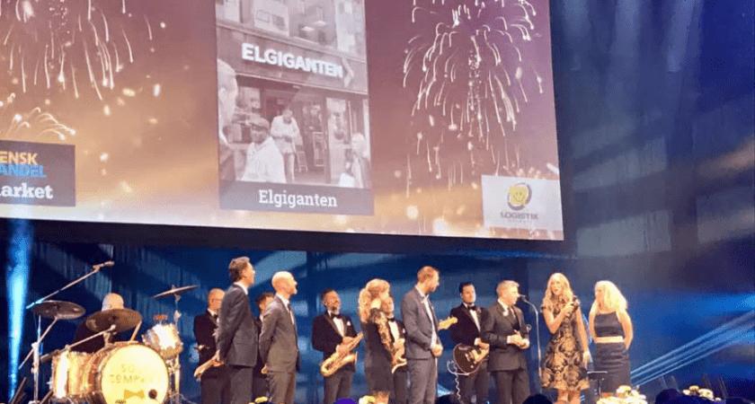 """Elgiganten vinnare av """"Årets Logistiksatsning 2017"""""""