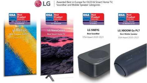 Branschledande tv- och ljudprodukter från LG vinner stort under 2020 EISA Awards 1
