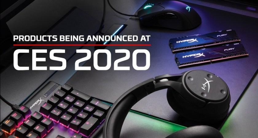 HyperX inleder året med helt nya gamingprodukter för PC och konsol på CES 2020