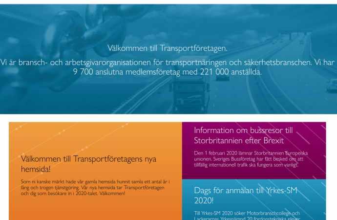 TietoEvry lanserar ny webbplats åt Transportföretagen byggt på Episervers molnbaserade lösning Digital Experience Cloud