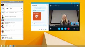 Zu sehen ist ein Screenshot aus einem YouTube-Video von Microsoft über Skype for Business Online. Bild: Microsoft/Screenshot aus Youtube-Video