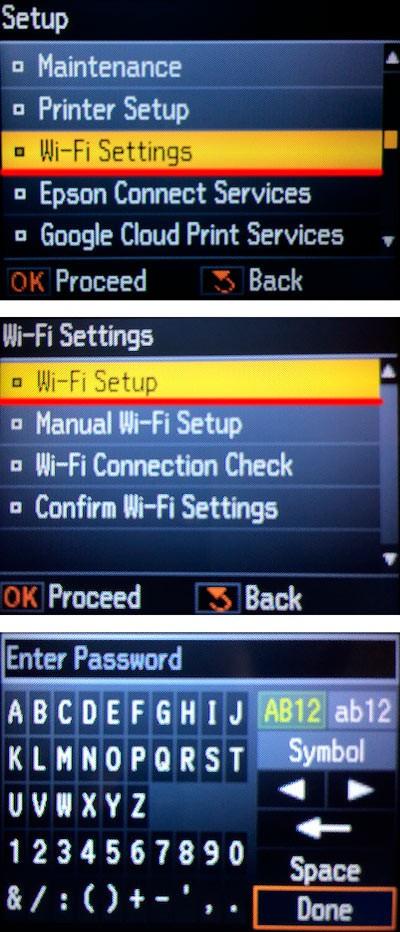 Cài đặt WiFi trên máy in